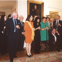 Guests listen to Professor Toro's speech thanking the Chilean Embassy for the honour