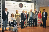 Professor Toro and academic authorities who lead the Opening Ceremony presided by the rector of the Universidad de Santiago de Compostela